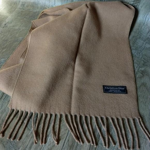 Christian Dior Monsieur scarf Tan/Camel color